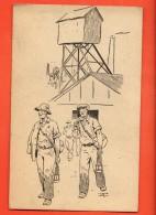 IBR-14  Dessin Illustrateur Sortie De La Mine. Ecit. J.O.C. Jeunesse Ouvrière Chrétienne, Circ. Sous Enveloppe - Mines