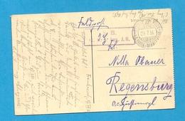 Guerre 14-18 - Unité Allemande Sur Le Front D'Alsace-Lorraine - 1916. VERDUN : FELDPOSTEXPEDITION * D. 6. BAYER JNFANT. - Poststempel (Briefe)