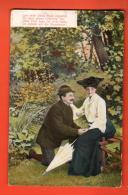 IBR-31  Couple, Homme Déclarant Son Amour, Femme Avec Ombrelle. Circulé - Couples