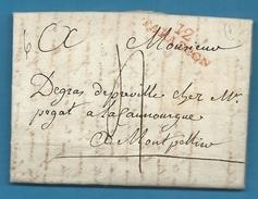 Bouches Du Rhone - Tarascon Pour Montpellier (Hérault). LAC De 1808 - Marcophilie (Lettres)