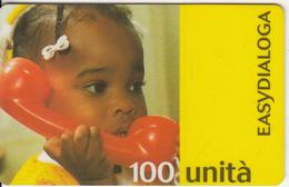 ITALY - Child On Phone, Easydialoga, Infostrada Prepaid Card 100 Units, Exp.date 31/12/99, Used - Italië