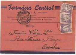 Company Advertising Card * Portugal * Oiã * Coimbra * 1942 * Farmacia Central * Holed - Pubblicitari