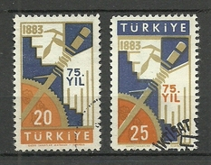 Turkey ; 1958 75th Anniv. Of The Institute Of Economics And Commerce - Usados