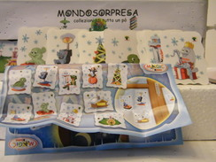 MONDOSORPRESA, (SC96-FF-C-9) FERRERO 40° ANNIVERSARIO, SET ADESIVI + CARTINA - Kinder & Diddl