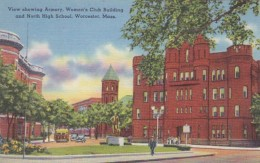 Massachusetts Worcester Armory Women's Club Building and North H