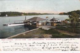 Massachusetts Worcester Boat Landing Lincoln Park Lake Quinsigam