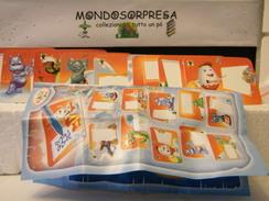 MONDOSORPRESA, (SC96-FF-C-8) FERRERO 40° ANNIVERSARIO, SET ADESIVI + CARTINA - Kinder & Diddl