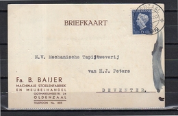 1949 Machinale Stoelenfabriek En Meubelhandel B. Baijer Oldenzaal (eh18) - Periode 1949-1980 (Juliana)