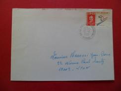 Lettre Circulée De Saint Pierre De Chandieu Le 12/08/1991 AVANT LE PREMIER JOUR (17/08/1991)  Du N°2710 Ski Alpin    TB - Abarten Und Kuriositäten