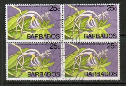 BARBADOS   Scott # 405 VF USED BLK. Of 4 - Barbados (1966-...)