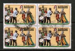 BARBADOS   Scott # 425 VF USED BLK. Of 4 - Barbados (1966-...)