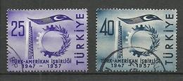 Turkey; 1957 10th Anniv. Of Turkish-American Collaboration - Usados