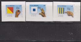 O)  2012 URUGUAY, MANUAL ALPHABET- DACTILOLOGICO -SYMBOLIC ORAL COMMUNICATION- HANDS, ADHESIVES- STICKERS XF - Uruguay