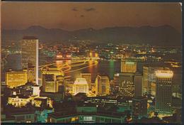 °°° 4052 - HONG KONG - NIGHT SCENE FROM PEAK °°° - Cina (Hong Kong)