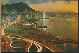 °°° 4056 - HONG KONG - BEAUTIFUL DUSK SCENE OF VICTORIA °°° - Cina (Hong Kong)