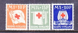Finland  B 2-4    **  RED CROSS  FLAGS  SHIP - Unused Stamps