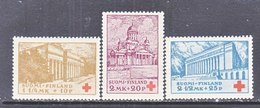 Finland B9-11    *  CHURCH  UNIVERITY   T.B. RED CROSS - Unused Stamps