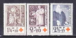 Finland  B 12-14   **  RED CROSS  RELIGION - Unused Stamps