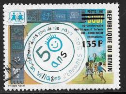 Benin(Dahomey) Scott # 1240 Used 1181 Surcharged, 2000, CV$200.00 - Benin – Dahomey (1960-...)