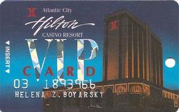 Atlantic City Hilton Casino - 2nd Issue Slot Card - 3rd Line Reverse Has Bally's Park Place & The Wild Wild West Casino - Casino Cards