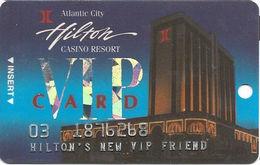 Atlantic City Hilton Casino - 2nd Issue Slot Card - Hilton's New VIP Friend - Casinokaarten