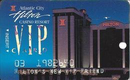 Atlantic City Hilton Casino - 3rd Issue Slot Card - Hilton's New VIP Friend - Casino Cards