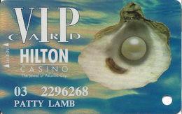 Atlantic City Hilton Casino - 5th Issue Slot Card - Hologram Background - Casino Cards