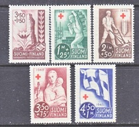 FINLAND  B 64-8 *  FARMER  MOTHER  FLAG  ARMS    RED  CROSS - Unused Stamps