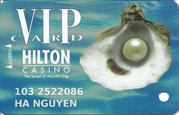 Atlantic City Hilton Casino - 13th Issue Slot Card - Inovative Over Mag Stripe - White Reverse - Casino Cards