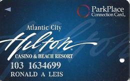 Atlantic City Hilton Casino - Slot Card - Park Place Connection Card