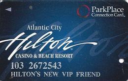 Atlantic City Hilton Casino - Slot Card - Park Place Connection Card - Hilton's New VIP Friend