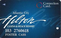 Atlantic City Hilton Casino - Slot Card - Connection Card - CPI Over Mag Stripe - Casino Cards