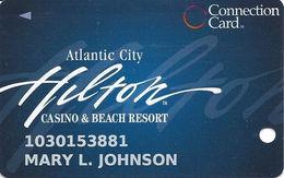 Atlantic City Hilton Casino - Slot Card - Connection Card - INNOVATIVE Over Mag Stripe - Casino Cards