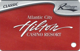 Atlantic City Hilton Casino - Slot Card - CLASSIC Destination Club - 4 Lines Main Paragraph On Back (BLANK) - Casino Cards