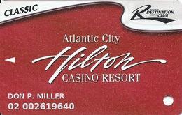 Atlantic City Hilton Casino - Slot Card - CLASSIC Destination Club - PG Mfg Mark Over Mag Stripe - 5 Logos - Casino Cards