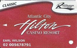 Atlantic City Hilton Casino - Slot Card - CLASSIC Destination Club - PG Mfg Mark Over Mag Stripe - 4 Logos - Casino Cards