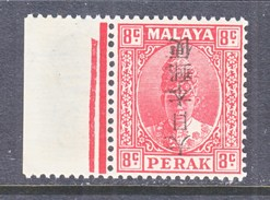JAPANESE  OCCUP. PERAK  N 36 A   **  INVERTED  OVPT. - Great Britain (former Colonies & Protectorates)