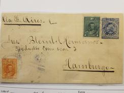 O) 1900 BOLIVIA, 10 CENTAVOS YELLOW-ANTONIO JOSE SUCRE, 5 CENTAVOS GREEN, 5 CENTAVOS COAT OF ARMS, SCOTT 61-63 - Bolivia