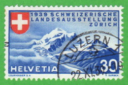 """SWT SC #252 1939 National Exposition Of 1939 """"LUZERN 1/11-22-39"""" CV $8.25 (I) - Used Stamps"""