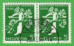 """SWT SC #264a PR 1939 National Exposition Of 1939 """"LUZERN 1/10-23-39"""" W/grilled Gum CV $7.50 (I) - Used Stamps"""