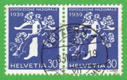 """SWT SC #267 PR 1939 National Exposition Of 1939 """"LUZERN 1/8-8-39"""" CV $22.00 (I) - Used Stamps"""