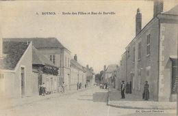 Boynes (Loiret) - Ecole Des Filles Et Rue Barville - Collection Chenault, Carte Non Circulée - France