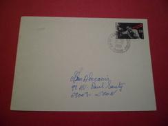 Lettre Circulée De Saint Pierre De Chandieu Le 21/10/1991  Du N°2729  Marcel Cerdan     TB - Pugilato