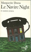 Navire Night (Folio) (French Edition) By Duras, Marguerite (ISBN 9782070380978) - Books, Magazines, Comics