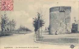 CPA CAMBRAI - BOULEVARD DE LA LIBERTE 1905 S.E.N.G.R. - Cambrai