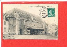 80 SAINT VALERY Sur SOMME Cpa Petite Animation L ' Entrepot       1 - Saint Valery Sur Somme