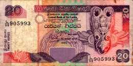 SRI LANKA  20 ROUPIES Du 15-11-1995  Pick 109 - Sri Lanka