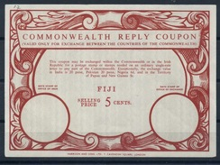 FIJI FIDSCHI  Type XVII  Commonwealth Reply Coupon Reponse Antwortschein IRC  5 CENTS   Mint Without Date Stamp ! - Fiji (1970-...)