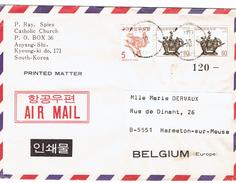 Lettre De Corée Vers Hermeton-sur-Meuse - Korea (Zuid)
