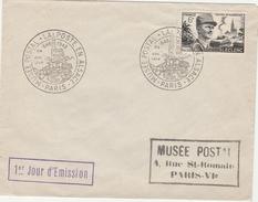 La Poste En Alsace - BT Paris 1948 Musée Postal - Cathédrale De Strasbourg & Calèche - Poste Aux Chevaux - Gedenkstempel